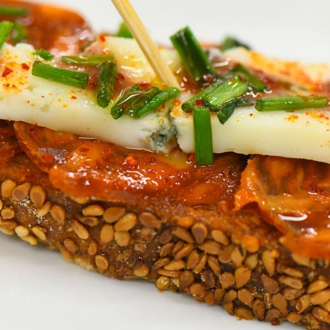 Tapas Crabe Avocat  Crème Concombre Tomate Confite